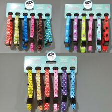 6 Pack Dog & Co Newborn Puppy Whelping Collars Soft ID Bands Adjustable 15-25cm