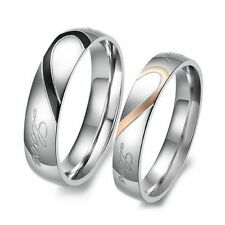 Stainless Steel Band Promise Costume Rings