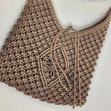 Old Navy - Women's Macramé Corded Boho Hippie Shoulder Bag Brown 11x12x2