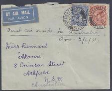 Uk Gb Australia 1931 First Air Mail Cover Birkenhead Cheshire To Ashfield Nsw