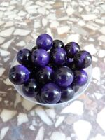 10 mm Loose Round Purple Tiger Eye Beads - Pack Of 10 - 1 mm Hole FREE Shipping