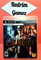L.A Noire PS3 Video Games