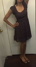 american rag casual floral Black Pink Red dress size Xs