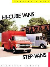 1986 Chevrolet Hi-Cube Aluminum Van Original Car Sales Brochure Catalog