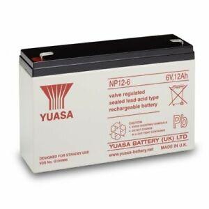 Peg Perego Thomas Track Rider 6V 12Ah Ride-On Toys Replacement Yuasa AGM Battery
