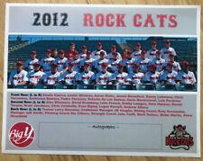 "2012 NEW BRITAIN ROCKCATS 8.5x11"" Poster TWINS Rock Cats Connecticut Aaron Hicks"