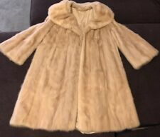 Vintage 1950s Blonde Mink Fur Coat Lined 3/4 length