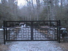 Driveway Gate Dual Swing Horse Ranch Equestrian Metal Art Garden Iron Made in US