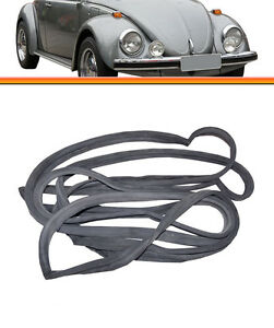 VW Bug Beetle Door Rubber Seal Gasket to Body PAIR Offside T1 Classic 1965-1979