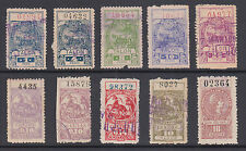 Argentina, Santa Fé, Forbin 67A/136B used 1896-99 Guias Fiscals, 10 diff