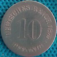 PIÈCE MONNAIE ALLEMAGNE 1875 DD  10 PFENNIG    Ref 0288