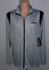 new, mens track suit jacket, And 1, light gray and black, zipped up, 2XL jjacket