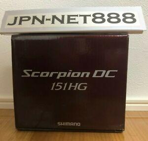 SHIMANO Bait Reel 21 Scorpion DC 151HG LEFT Handle 2021 Gear ratio 7.4