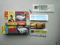 CORGI 261 JAMES BOND DB5 (REPRO BOX AND INSTRUCTION ONLY)-NO CAR INCLUDED