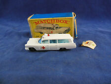 Matchbox Series By Lesney No. 54 S & S Cadillac Ambulance