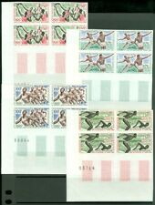 EDW1949SELL : CENTRAL AFRICA 1964 Sc #C20-23 Olympics Scarce set of Imperf VFMNH