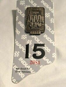 New VTG 1994 Indianapolis 500 Ford Mustang Race Car Pit Press Badge Pin FP20