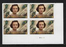 Catalog #5003 Plate block of 4 (93) cent Stamps  Flannery O'Connor Literary Arts