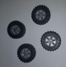 "Lot of 4 K'nex Wheels 1"" inch Tires & Rims Replacement Pieces Parts Knex"