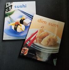 """""""Dim Sum"""" (hardcover) with BONUS hardcover """"Sushi"""" (Two Tuttle Cookbooks)"""