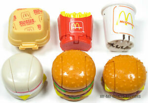 VINTAGE LOT OF 6 McDONALD'S HAPPY MEALS TRANSFORMERS TOYS CHANGEABLES 1987-1988