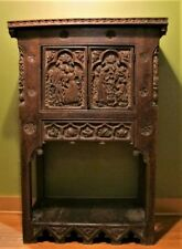 Museum-Quality 17th C. Original Renaissance Era Oak Cabinet c. 1650 antique