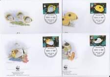 WWF 4 x FDC Micronesia 1997 - Vissen Koraalvlinder / Fish (111)