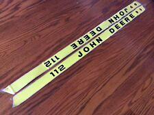 John Deere 112 LGT Hood  Decals