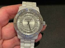 Used GORGEOUS Michael Kors Crystal Watch Ceramic Band