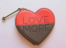 Fossil Sofia Heart Coin Purse - Love More- Coral and gray - arrow zipper pull