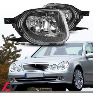 03-06 For Mercedes Benz W211 Clear Lens Pair Bumper Fog Light Replacement