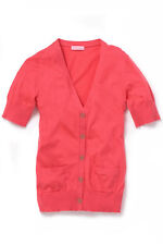 Lilly Pulitzer Trisha Island Coral Cotton Silk Short sleeve Sweater Cardigan XS
