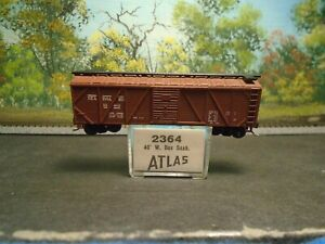 ATLAS N SCALE #2364 40'  SGL DOOR WOOD BOX CAR SEABOARD #15412
