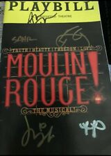 Moulin Rouge Aaron Tveit Cast Signed Broadway Musical Playbill Movie Paris