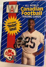 1991 ALL WORLD CANADIAN FOOTBALL TRADING CARDS FACTORY SEALED 110 CARD SET - CFL