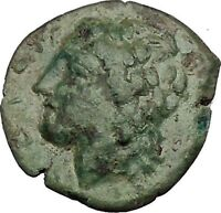 SYRACUSE in SICILY 287BC Zeus Eagle Rare R1 HIKETAS Ancient Greek Coin i52746
