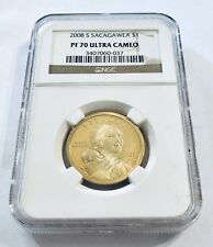 2008 S $1 PF70 Ultra Cameo Gold Dollar Coin Sacagawea Brown Label Ships Fast