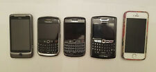 Lot of 5 Cell Phones / iPhones 6s, HTC, BlackBerry 8900, 9700, 8830  AS IS PARTS