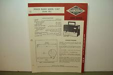PHILCO PORTABLE RADIO SERVICE MANUAL MODEL C-667 CODE 121