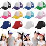 Mens Women Baseball Cap Summer Trucker Hip-Hop Mesh Hat Adjustable Snapback Caps