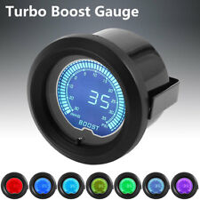 52mm 2'' Car 35 PSI Pressure Vacuum Turbo Boost Gauge Meter LED 7 Light Color CA