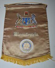 Vintage BLOEMFONTEIN South Africa Rotary Club International Flag Wall Banner HTF