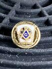 Vintage Masonic Free Mason Lapel Pin Screw Back Tie Tack Freemason Lodge Square