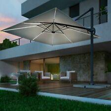 Ombrellone girevole giardino decentrato 3x3 led solare