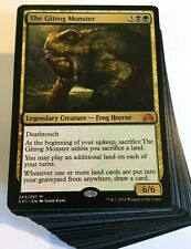 ***Custom Commander Deck*** The Gitrog Monster - Lands - EDH Mtg Magic Cards