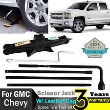 For Chevy Silverado / GMC Sierra Spare Tire Lug Wrench and 2 Ton Scissor Jack