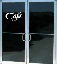 CAFE Business Resturant Sign Vinyl Decal Sticker Door WIndow 8x15