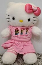 HELLO KITTY BUILD A BEAR with Outfit and Bow.