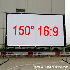"""150"""" 16:9 Portable Projection Screen Film for Home Theater 3D LED DLP Projectors"""