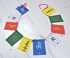 Tibeta Buddhist Om Mantra Small Cotton Prayer Flags from Nepal